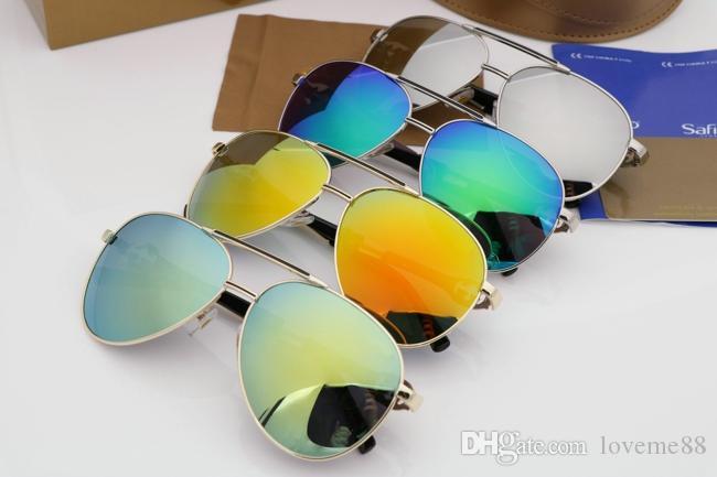 Vendita calda degli occhiali da sole di lusso evidence moda retrò attempati progettista laser cornice in oro lucido logo delle donne di alta qualità con il pacchetto 234.315