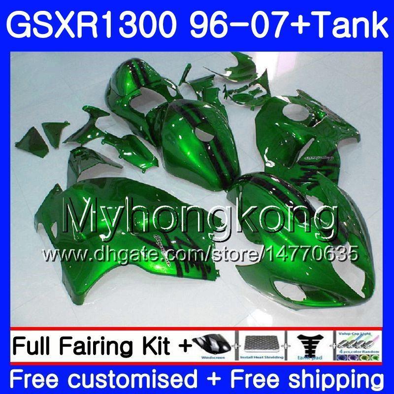 Bodys per Suzuki GSXR Gloss verde 1300 1996 2002 2003 2004 2005 2006 2007 333HM.114 GSXR1300 GSXR1300 Hayabusa 96 02 03 04 05 06 carenatura