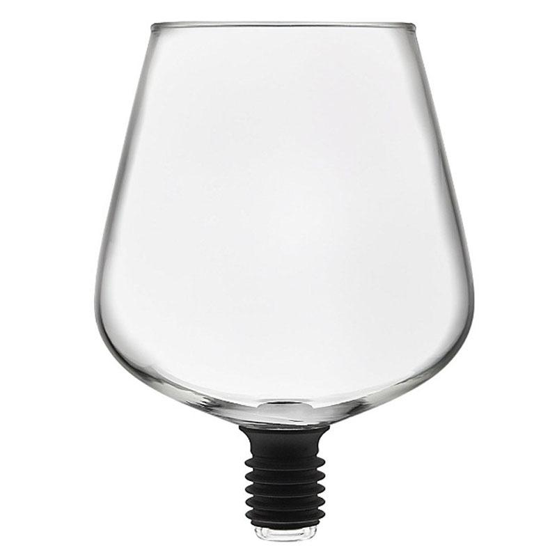 Barware Transparent Direct To Drinking Wine Decanter Glass Cup Packed In Wine Bottle Stopper Bar Tools