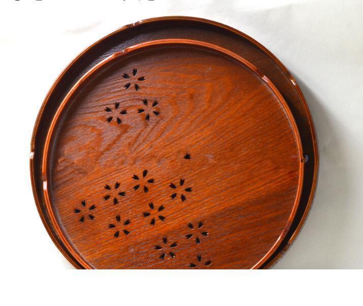 Thé cuisine orientale 50pcs service alimentaire Vintage thé Plateau en bois Platter plaque Cuisine Gadget pour le lait Pizza