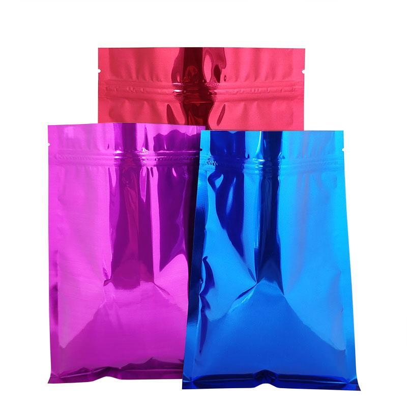 8,5*13 cm 500 piezas colorido Mylar papel de aluminio Zip Lock bolsas de almacenamiento 10 Color té bolsas comida Storge bolsa con cremallera