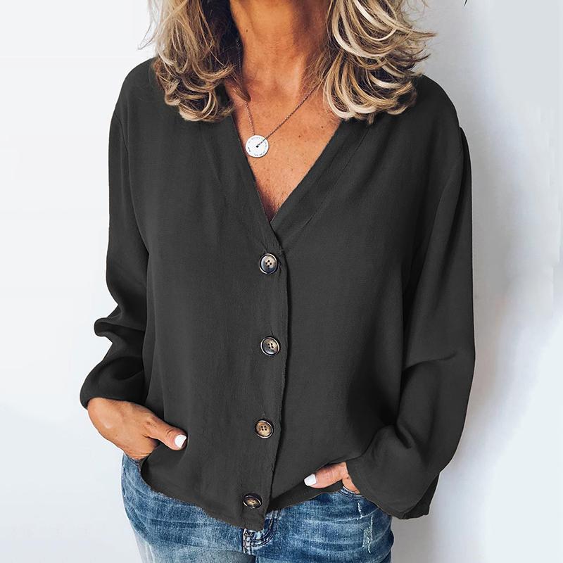 Women's Tops Ladies Spring Autumn Loose Fashion Baggy Shirt Plus Size Slim Fit Casual Blouse Female M~2XL
