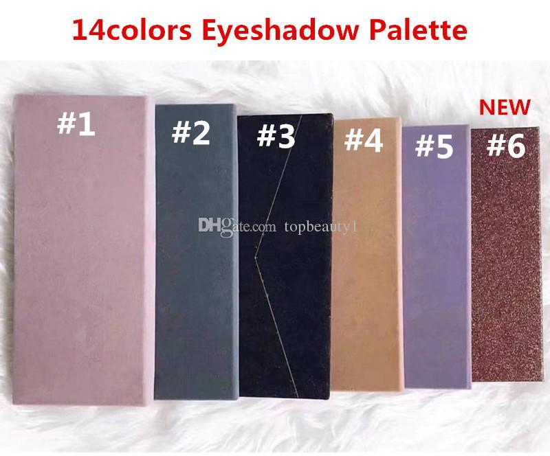 Чулок !! Палитра макияжа 14 цветов современная палитра теней для век 6 стилей ограниченная палитра теней для век с кистью DHL доставка