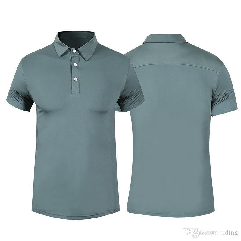 2019 top hommes polo hommes affaires gym courir séchage rapide golf respirant t-shirts tee serrés sport fitness tennis chemises blouse