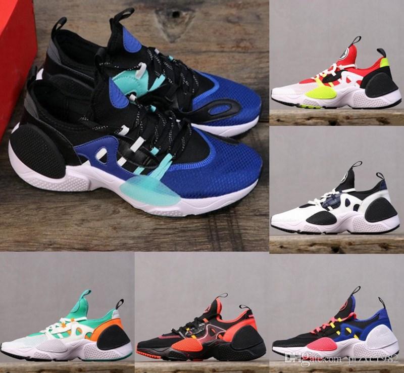 2020 Huarache 7 Borda TXT OG Running Shoes Oreo Triplo Preto Moda Branco azul Womens Homens Formadores Casual Sneakers Esportes Tamanho US5.5-11