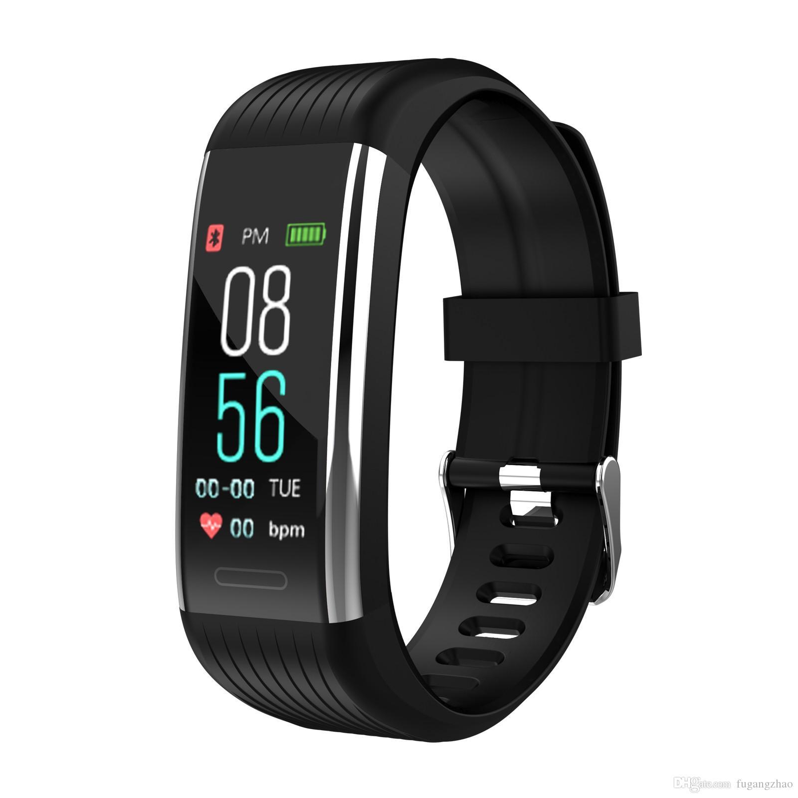 El último 2019 Nueva pulsera inteligente R1 Bluetooth Estimulación Frecuencia cardíaca Sueño Presión arterial Pulsera inteligente de ejercicio