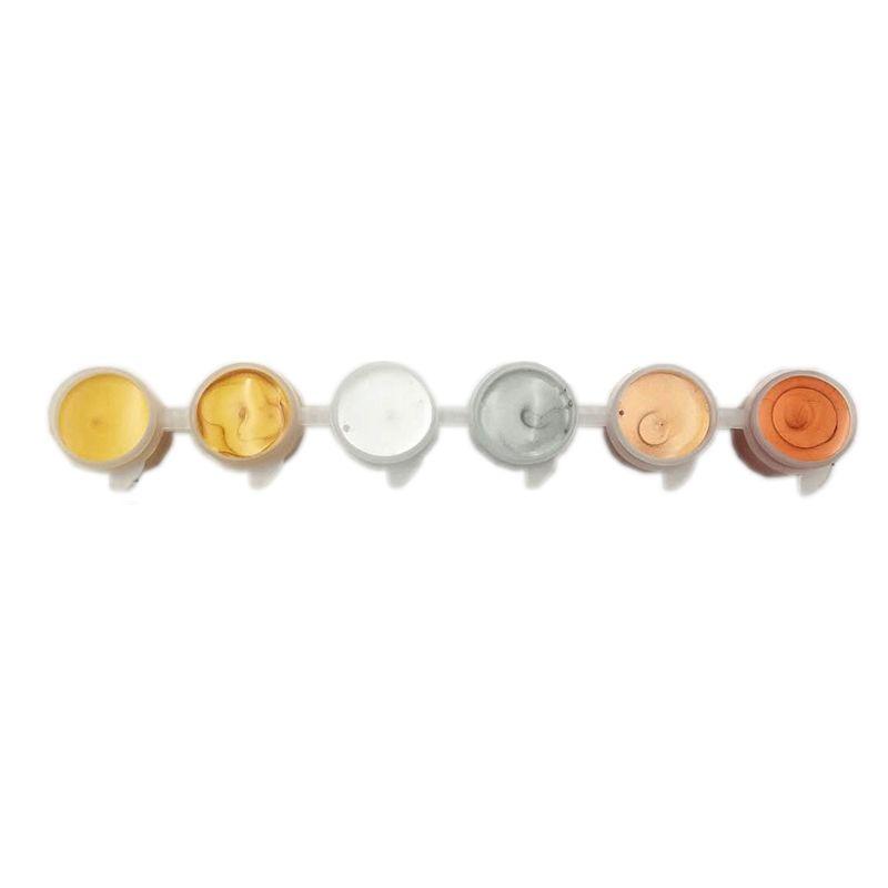 Advance-Acrylfarben-Pigment-Satz für DIY Kleidung Textilgewebe handgemaltes Wandputz Malerei Zeichnung-Gold / Splitter / Bronze