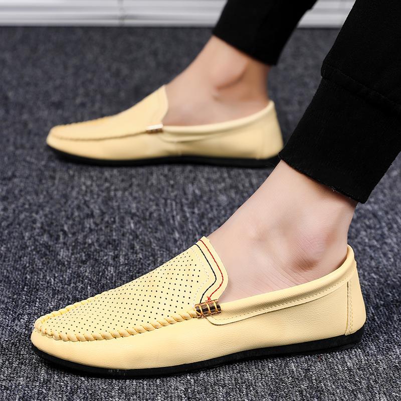 scarpe da sera GRAM EPOS 2019 Scarpe casual Uomo Primavera Estate estate della maglia maschio di alta qualità cuoio freddo Affari Loafer guida