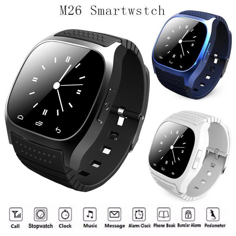 트렌드 방수 Smartwatches M26 블루투스 스마트 시계와 LED Alitmeter 음악 플레이어 보수계를 들어 애플 IOS 안드로이드 스마트 폰
