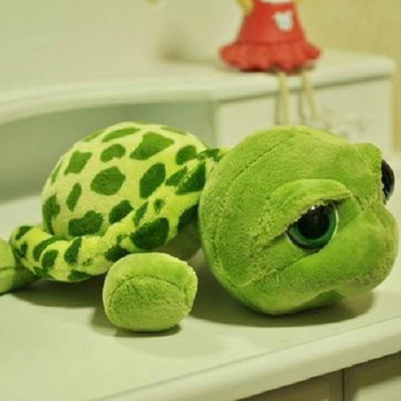 20cm 인형 봉제 동물 슈퍼 그린 큰 눈 인형 거북이 거북이 동물 플러시 아기 장난감 선물 어린이 날 선물 LA020