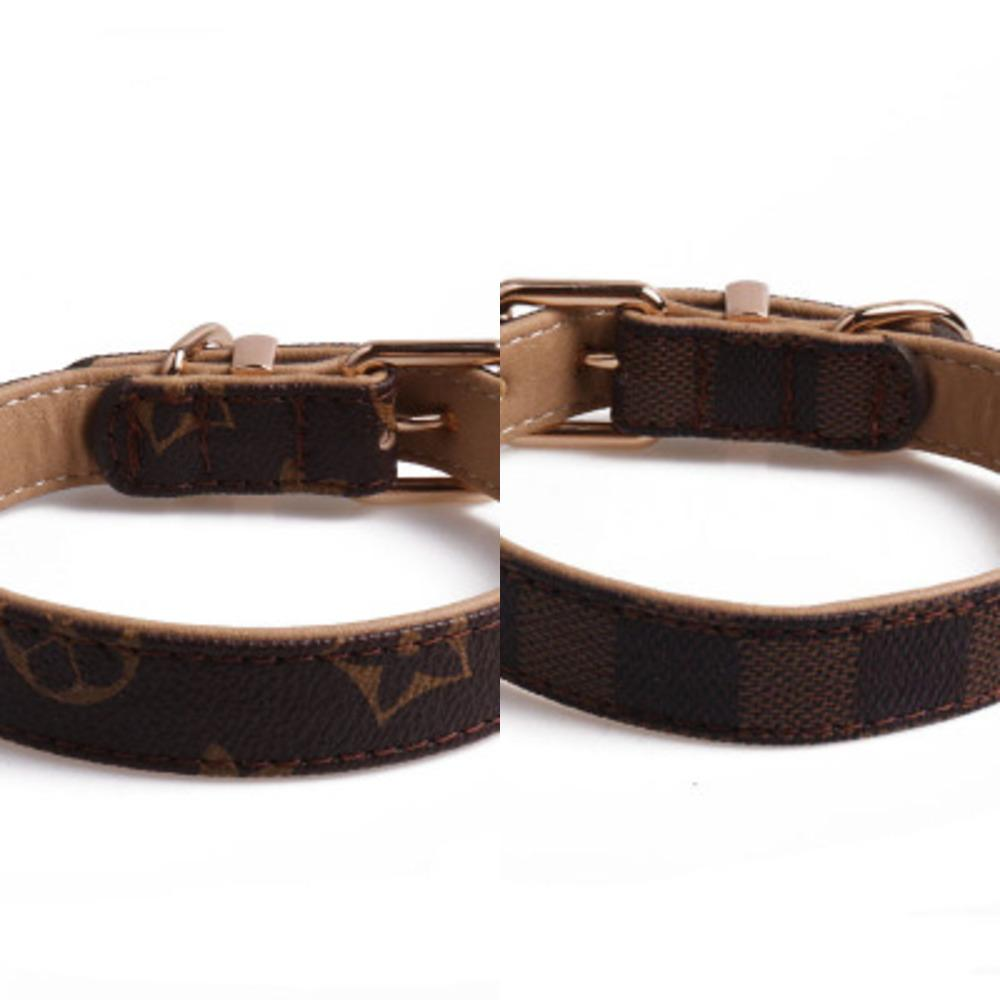 Nouveau mode classique modèle en cuir PU Marque Animaux Colliers Adjustable Pet Chiens Chats Laisses personnalité extérieure Mignon Accessoires Collier pour chien