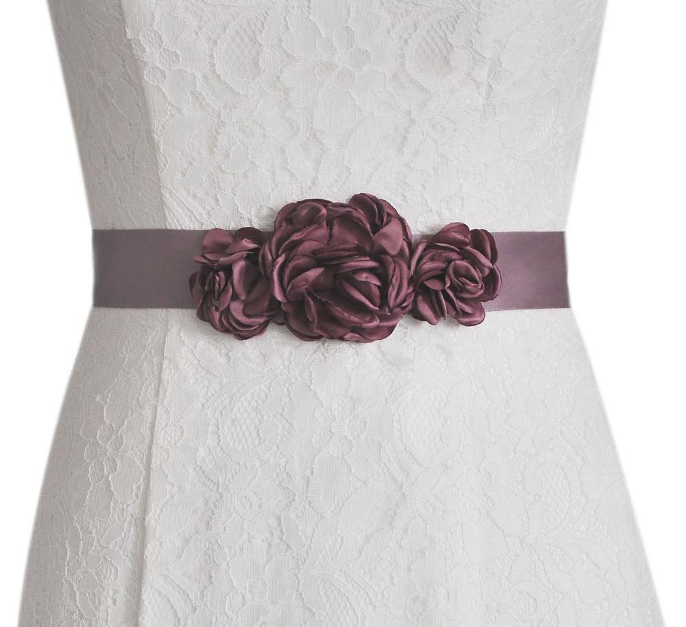 Tieshome BS226 Женская мода красивая цветочная свадьба пояса невесты невесты для вечерней вечеринки полые цветы