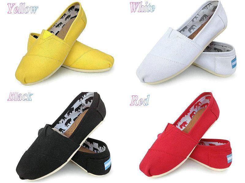 Vendita calda-Scarpe casual Donna / Uomo Classici TO MRS Mocassini Canvas Slip-On Flats shoes Scarpe pigre taglia W5-10 M11-15