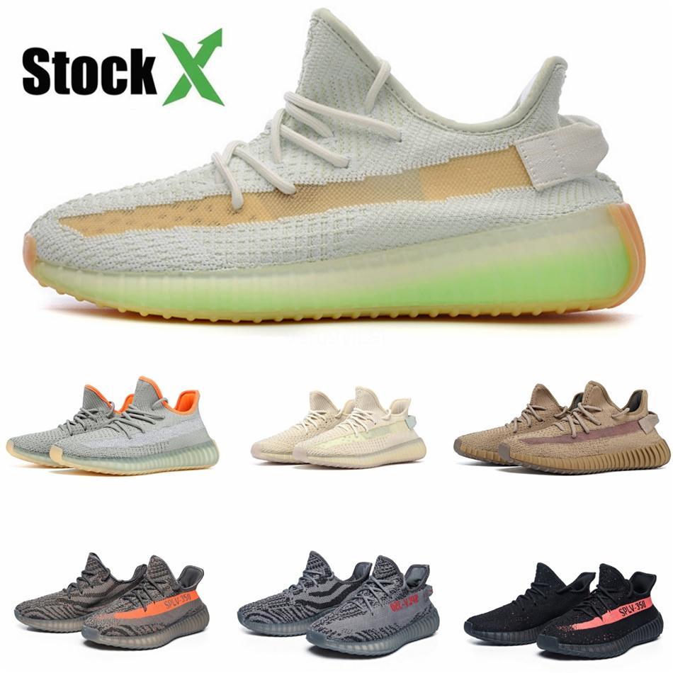 Ayakkabı Koşu Yansıtıcı Kanye West Utility Siyah Dalga Runner ile Kutusu Statik Tuz leylak Katı Gri Erkekler Kadınlar Spor Spor ayakkabılar # QA936