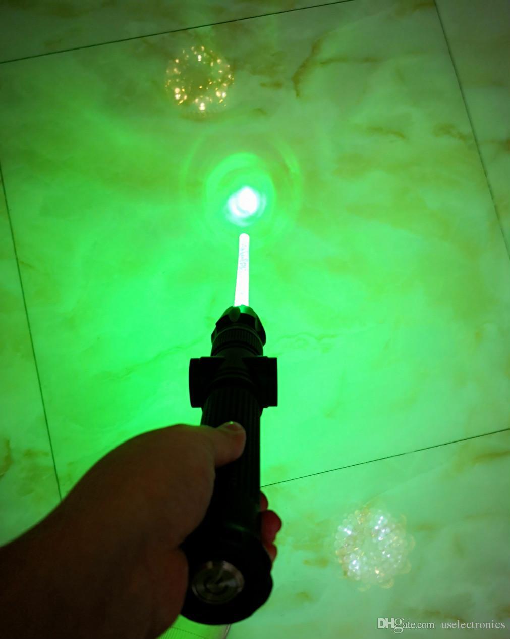 Интеллектуальный лазерный лазер 532nm зеленый лазерный указатель фонарик 500000m питание от 2x26650 батареи бесплатно DHL
