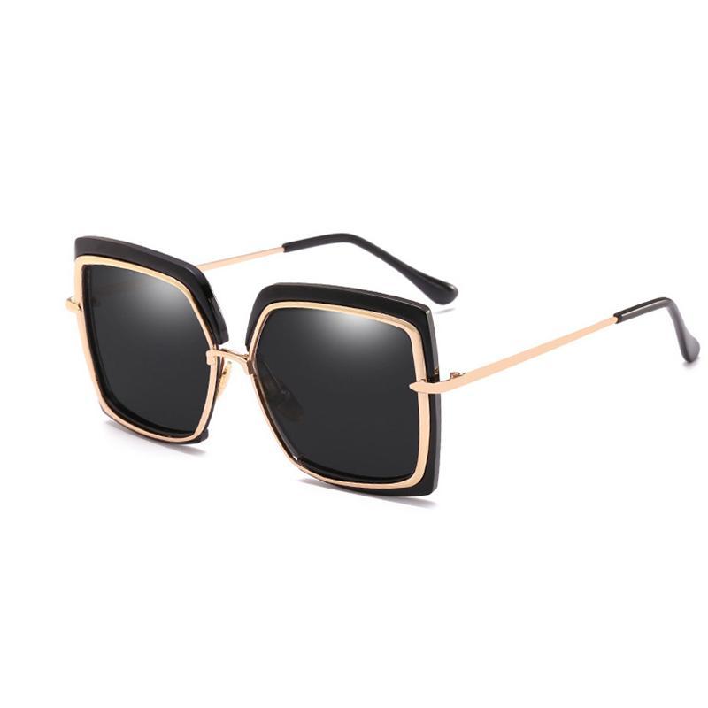 Atacado-MLLSE Fashion Oversize Square óculos de sol para mulheres marca Designer Vintage Retro Big Frame óculos de sol feminino óculos de sol das mulheres