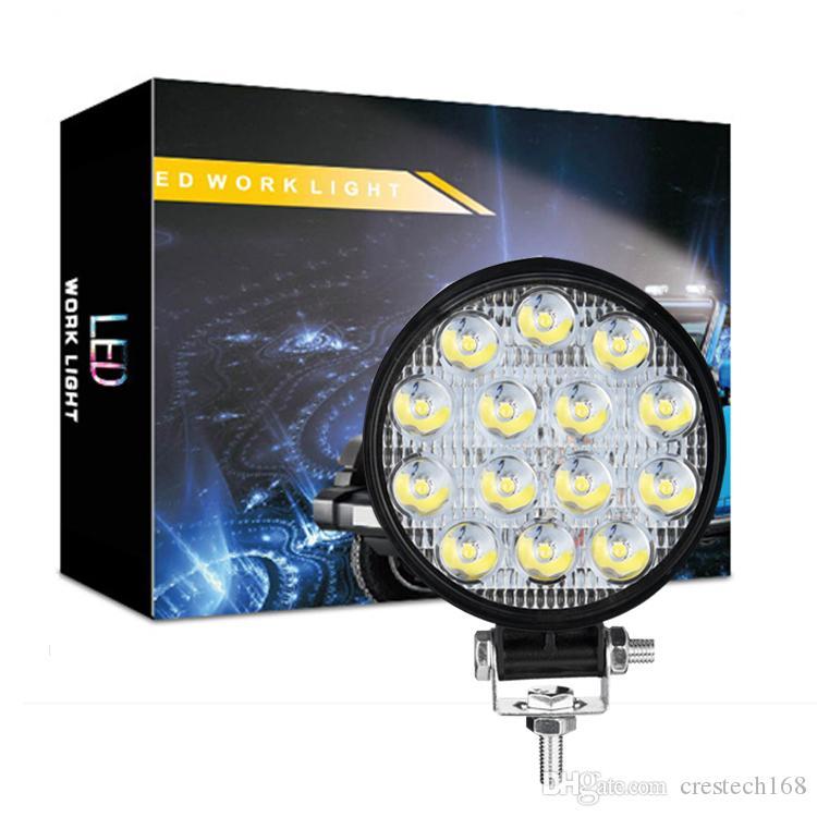 LED-Arbeitslicht - 42W Flut-LED-Lichtleiste für Traktor Offroad 4WD-LKW ATV UTV SUV-Fahrlampe Tagfahrlicht