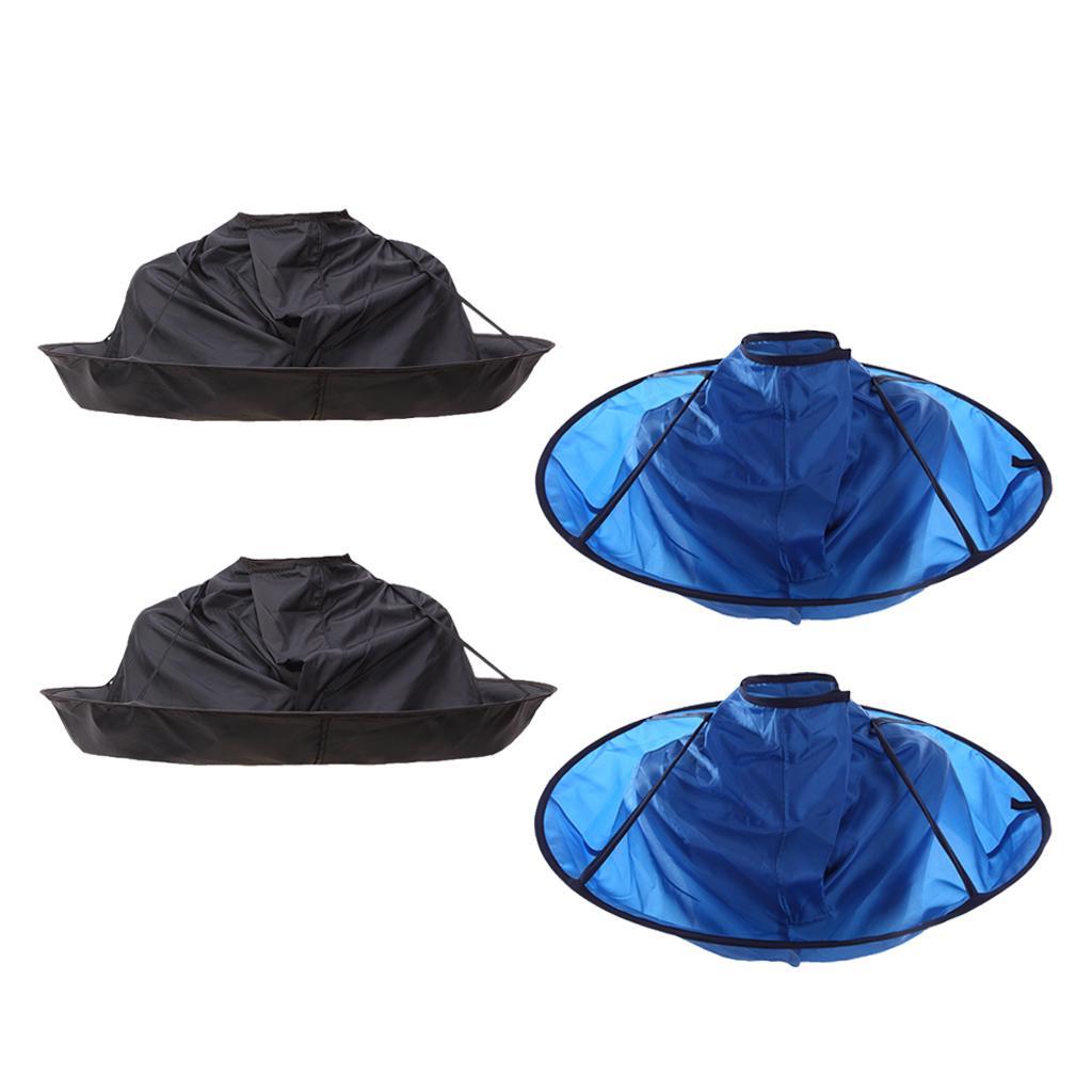 4pcs corte de pelo Pro Cabo Catcher pelo peluquería paraguas Capa Kit
