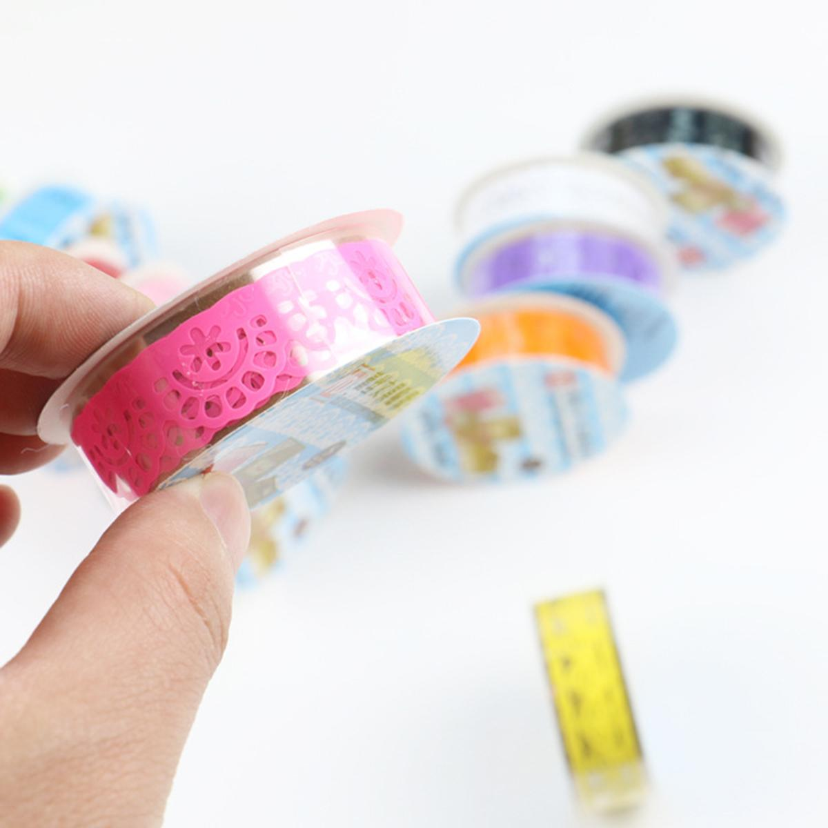 Lace Flower Masking Tape Paper Ribbon Album Decorative Party Lace Roll Scrapbooking Self Adhesive DIY Crafts Sticker 2020 New