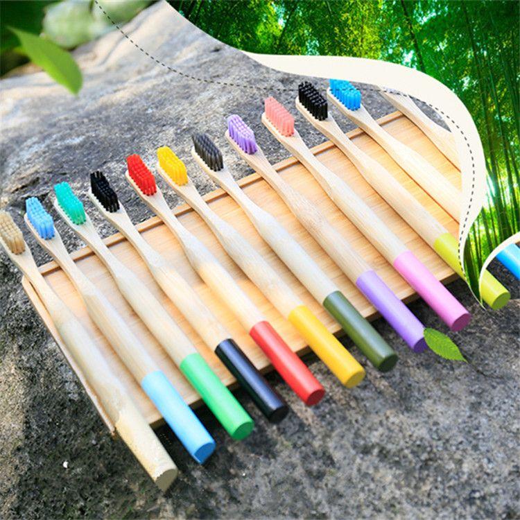 Natural Eco Circular Manija de bambú Niños Cepillo de Dientes Hotel Disponible Cepillo de Dientes Saludable Cepillo de Dientes Soft Soft Cepillo de Dientes T9I0072