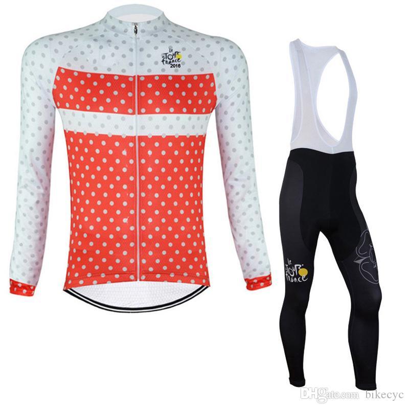 Pro Takım Turu de France Bisiklet Jersey Erkekler Set Sonbahar Uzun Kollu Açık Spor MTB Bisiklet Giymek Maillot Ciclismo Yol Bisikleti Giyim Y210316