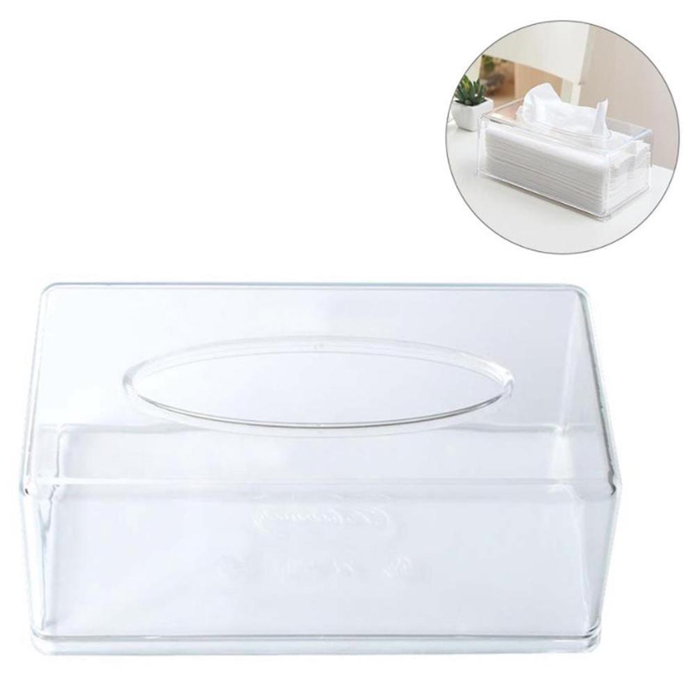 화장실 홈 오피스 수건 냅킨 로그인 티슈 홀더 Y200328 투명 컨테이너 롤 종이 상자 케이스