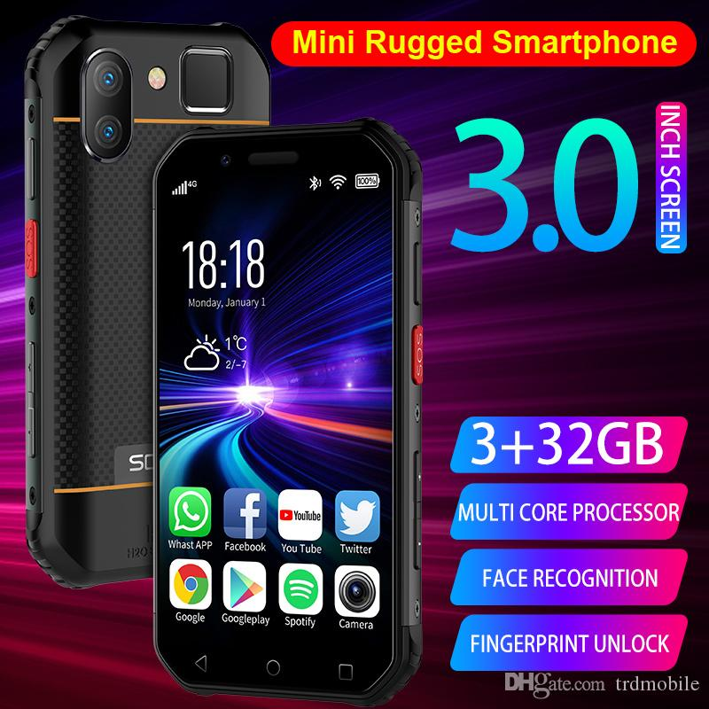 "3.0"" Rugged Smartphone 4G LTE 3GB+32GB Quad-Core Unlocked Android phone NFC Wifi GPS Fingerprint PTT FM BT SOS Face ID Waterproof Cellphone"