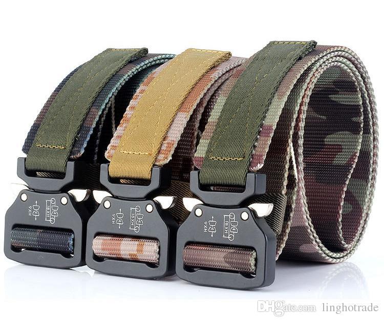 Cinture tattiche degli uomini di modo Cinghia di nylon resistente della vita Fibbia di metallo resistente Cinghie militari dell'esercito regolabile per la cinghia esterna dei jeans del rilascio rapido degli uomini