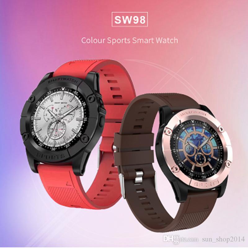Box Android IOS PK DZ09 U8 için Pedometre Kamera Mic ile Yeni Akıllı İzle SW98 Bluetooth Smart İzle HD Ekran Motorlu Smartwatch