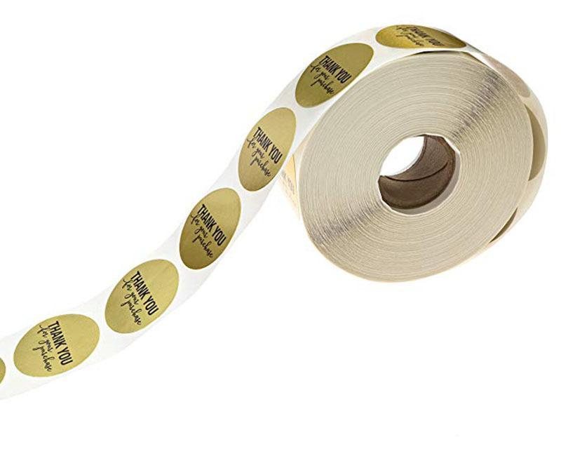 1000 Gold Thank You Etiketten Gr/ö/ße 25mm