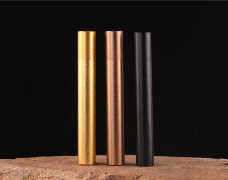 Sigara Herb Hap Tütün Sigara Aracı Renkli Mühür Depolama Tüp Alüminyum Alaşım Kasa tutucu Şişe Taşınabilir Kutu Öncesi Rulo Tüp Kavanoz