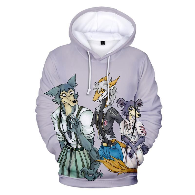 3D-Anime BEASTARS Hoodies Der Wolf Elements Harajuku Hoodie BEAST COMPLEX Cartoon Pullover Kinder Frühlings-Herbst-Kind-Kleidung