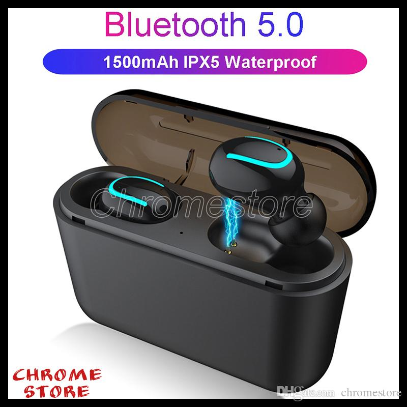 Tws Bluetooth Earphone Hbq Q32 Mini 3d Stereo Wireless Earbuds With Mic 1500mah Charging Box Touch Control Sports Earphone For Laptop Iphone Cell Phone Head Set Earphones For Cell Phones From Chromestore