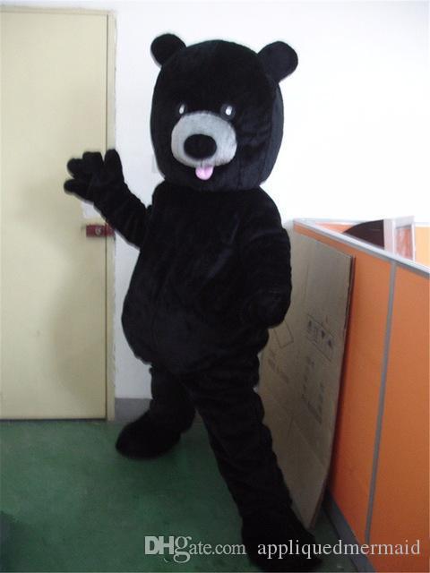 Halloween Ours noir costume de mascotte Cartoon animal Anime personnage thème de Noël Carnaval Party Fancy Costumes