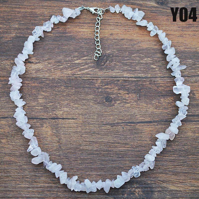 Новые Женщины Гравий ожерелье Mixed камень шариков Handmade ожерелье ювелирные подарки CLA88