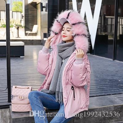 Yeni kış aşağı pamuk kadın gevşek öğrenci kısa ceket ceket