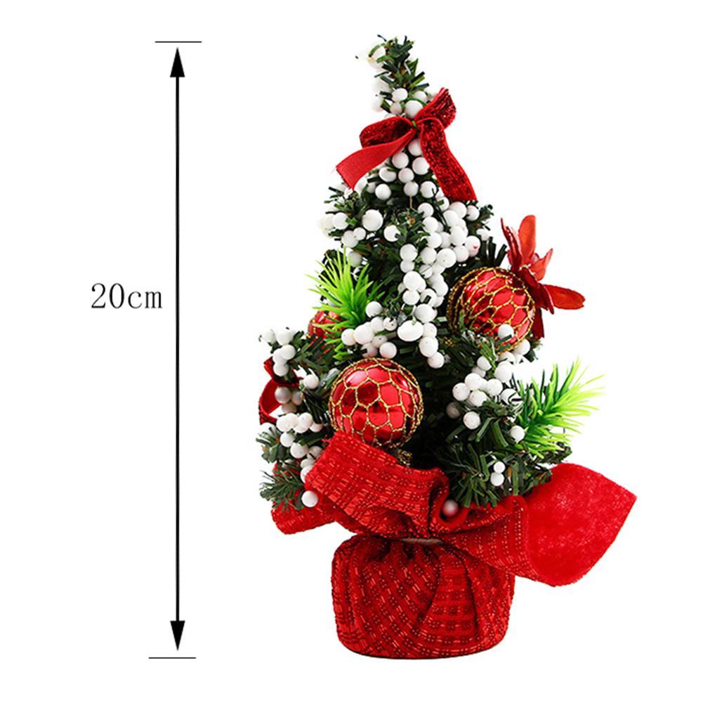 20cm Mini-Weihnachtsbaum-Bogen-Knoten-Ball-Blume Xmas Party Tischdekoration Ornamente