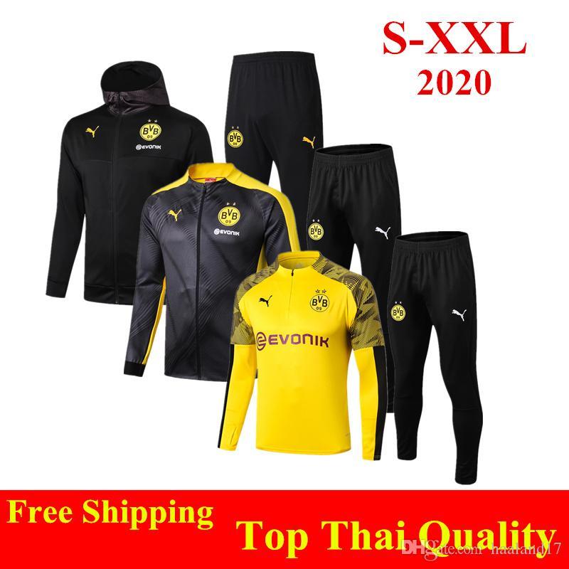 2020 Thail Quality 2020 Borussia Dortmund Adult Sweatshirt Kit 19 20 Haaland Football Jacket M Gotze Shirts Reus Hoodies Sancho Yellow Tracksuits From Haaland17 45 70 Dhgate Com