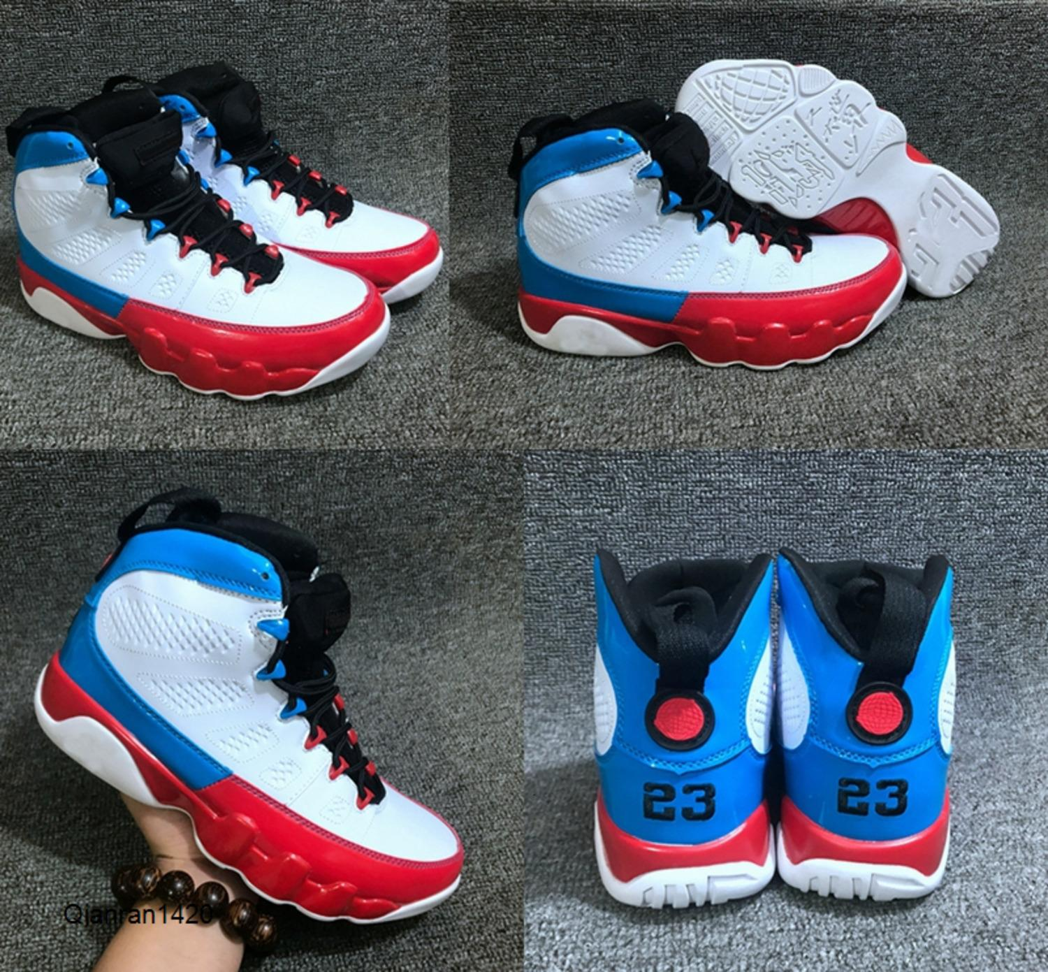 9 Gym Red Racer Bleu Bred Dream It Do It UNC Space Jam Caméléon Basketball Chaussures Hommes 9s Anthracite Jumpman Sport Sneakers