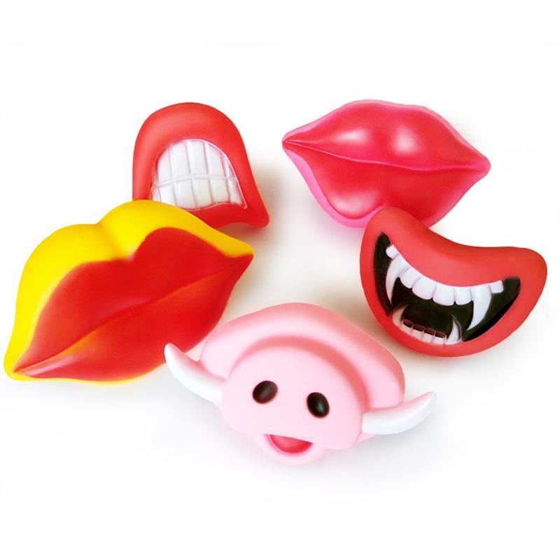 Intera Maggot Party Favore Giocattoli Molti stile Voice Tusks Denti Lunghi Simulazione Scream Halloween Prop Red Lips Tutte le persone Playing 1 5Gya P1