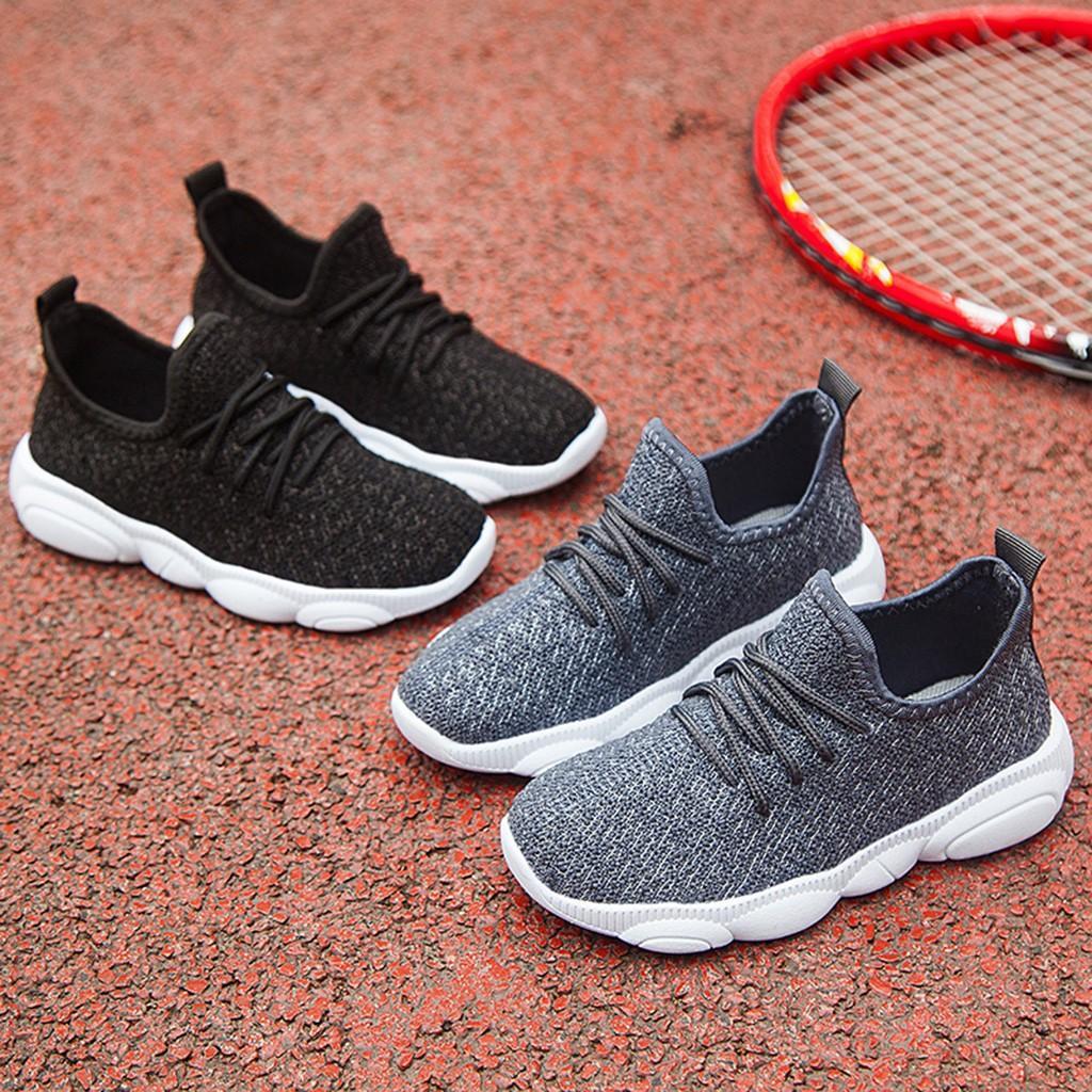 Enfants Enfants Infant Casual Sport Chaussures bébé Filles Garçons solide Mesh Sport Run Sneaker Chaussures chaudes Casual Berceau infantile de HOOLER