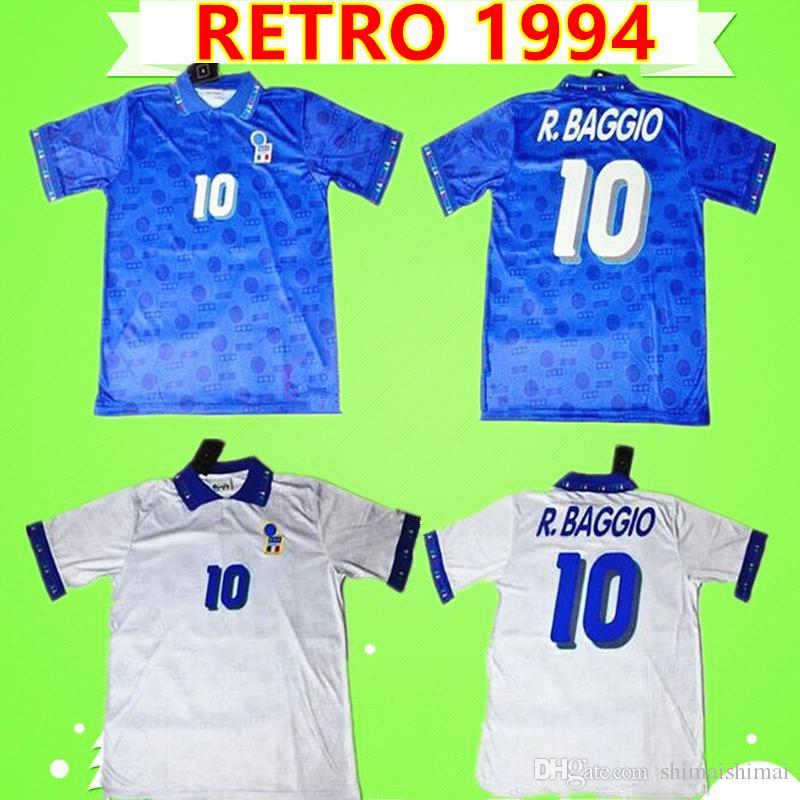 italy retro Meilleure qualité thaïlandaise rétro Italie 1994 2006 anniversaire de la coupe du monde commémorent les maillots de football 94 06 chemises  vintage classiques bleu