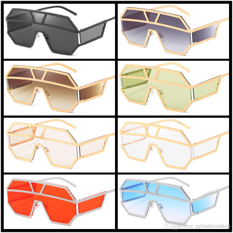 جديد UV400 النظارات الشمسية سيامي 1639 المحيط أزياء النساء الرجال النظارات الشمسية الكبيرة تريند الإطار الإطار المعدني النظارات موك = 5 PCS