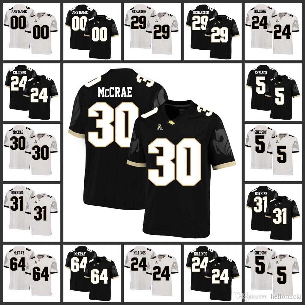 Compre Mens UCF Knights Jerseys 30 Greg McCrae 31 Jeremy Boykins 64 Justin McCray Jersey De NCAA Con Costuras Personalizadas A 19,43 € Del Hellomicki ...