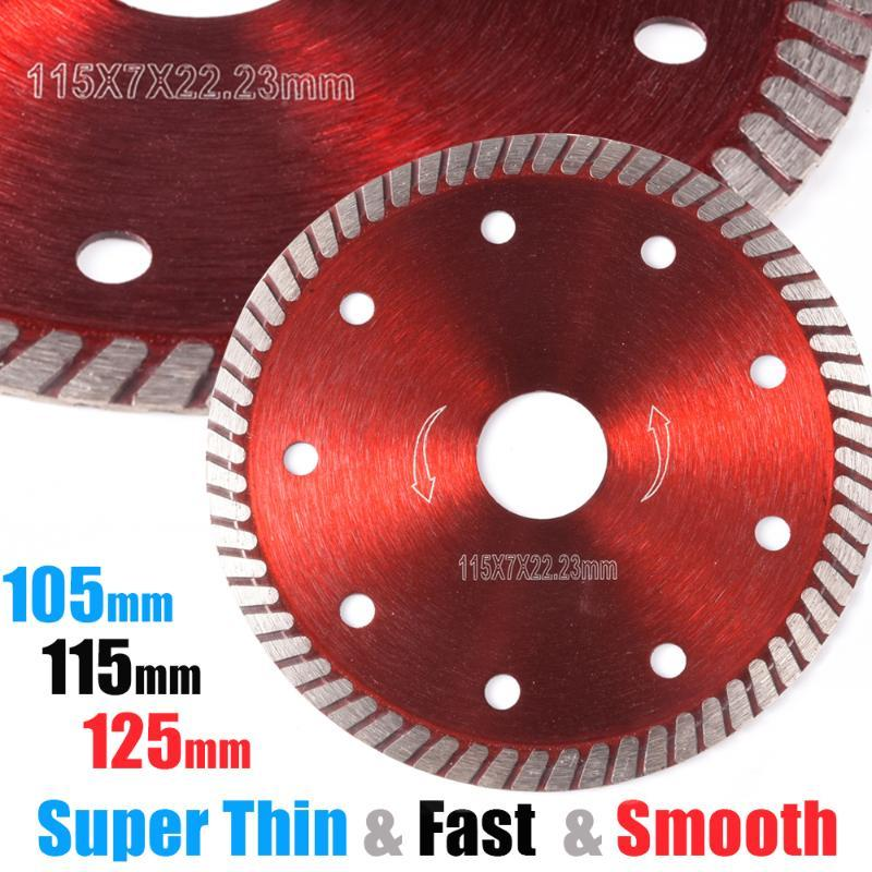 Segmento de serra de diamante alvenaria Rebarbadora corte fino Porcellanato Turbo Marble Roda Lâmina de disco 105/115 / 125 milímetros tijolo