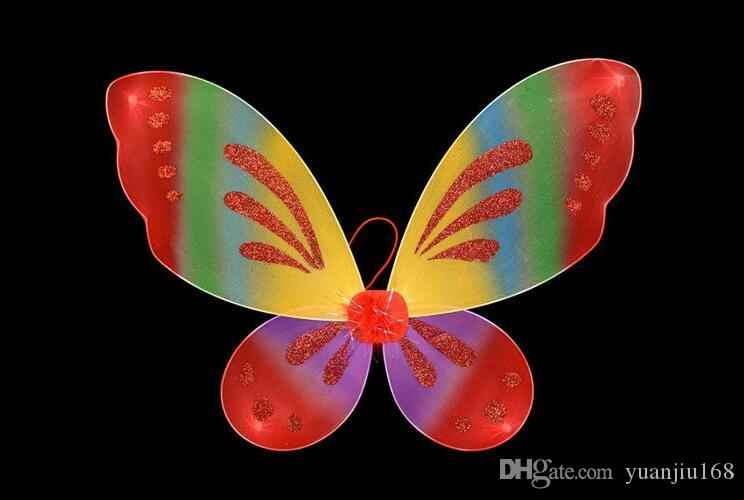 Сказочные крылья бабочки ангела Девушки малыша взрослое платье для вечеринок GB422