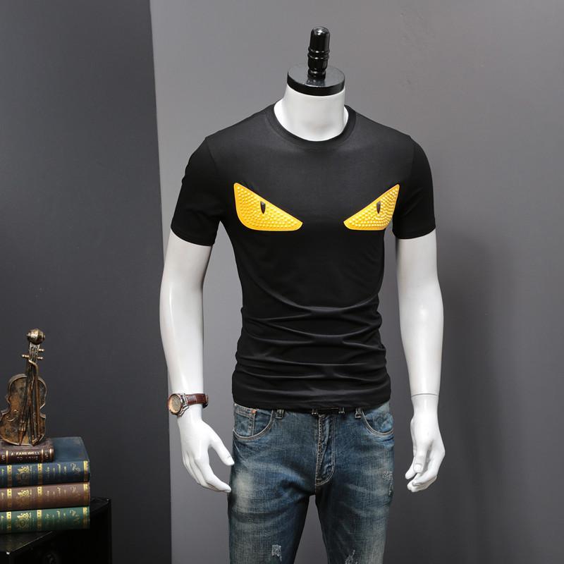 남성 여름 T 셔츠 패션 인쇄 라운드 칼라 100 %면 높은 품질의 T 셔츠 라운드 넥 짧은 소매 M-3XL 09