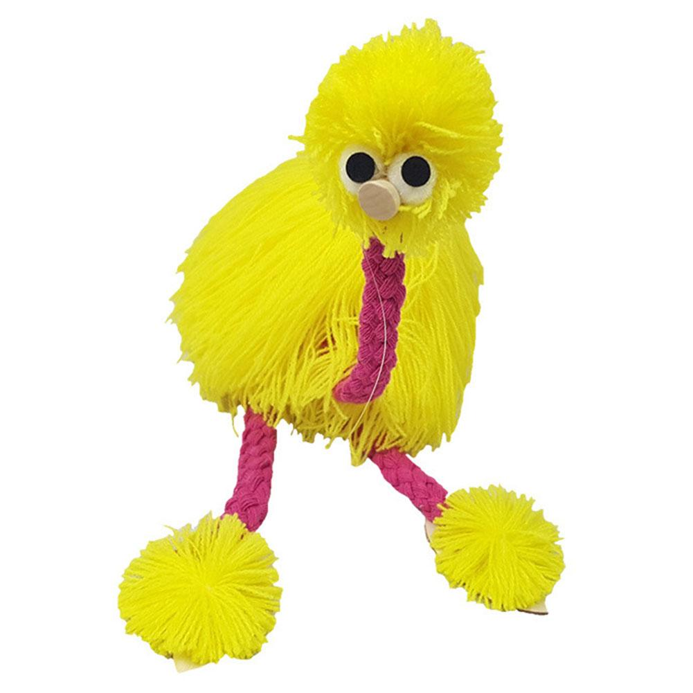 2pcs Wooden Puppet Festival Traditional Muppets Rope Control Crafts Doll Ostrich Shape Kids Marionette Children Toys Animal