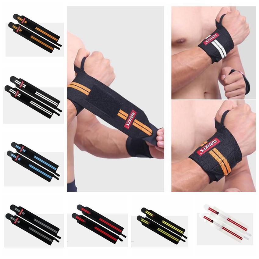 Gym Handverpackungen Handschlaufe Gewichtheben Handgelenk-Verpackungen Handschuhe Crossfit Hantel KDK Handgelenkstütze Sportarmband Armschienen ZZA937