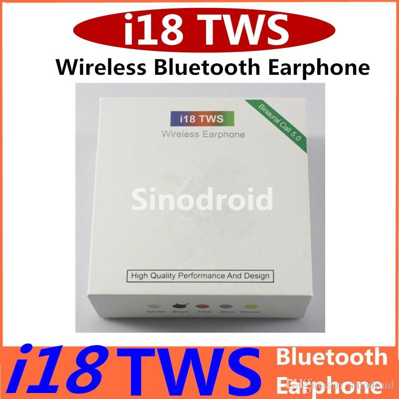 i18 TWS Touch Wireless Earbuds Double V5.0 Bluetooth Headphones ture stereo Earphones wireless i18 headset earbuds with touch control SIRI